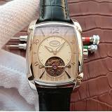 帕玛强尼(Parmigiani Fleurier)KALPA GRANDE系列 真陀飞轮腕表 白钢米黄盘 男士手动机械表手表