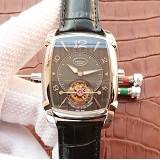 帕玛强尼(Parmigiani Fleurier)KALPA GRANDE系列 真陀飞轮腕表 白钢黑盘 男士手动机械表手表