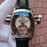 帕玛强尼(Parmigiani Fleurier)KALPA系列 真陀飞轮腕表 白钢棕盘 男士手动机械表手表