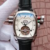 帕玛强尼(Parmigiani Fleurier)KALPA系列 真陀飞轮腕表 白钢白盘 男士手动机械表手表