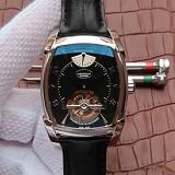 帕玛强尼(Parmigiani Fleurier)KALPA系列 真陀飞轮腕表 白钢黑盘 男士手动机械表手表
