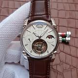帕玛强尼(Parmigiani Fleurier)Tonda 1950系列真陀飞轮新款日月星辰 24小时显示 白盘 男士手动机械表手表