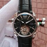 帕玛强尼(Parmigiani Fleurier)Tonda 1950系列真陀飞轮新款日月星辰 24小时显示 黑盘 男士手动机械表手表