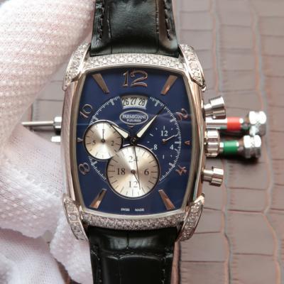 帕玛强尼(Parmigiani Fleurier)KalpaGraphe系列PFC128-0000100 蓝盘 镶钻 男士自动机械表手表