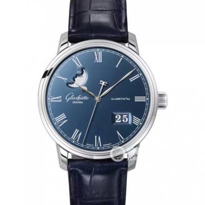 格拉苏蒂原创 Glashütte Original Senator 精髓系列100-04-05-12-30 蓝盘 男士自动机械表