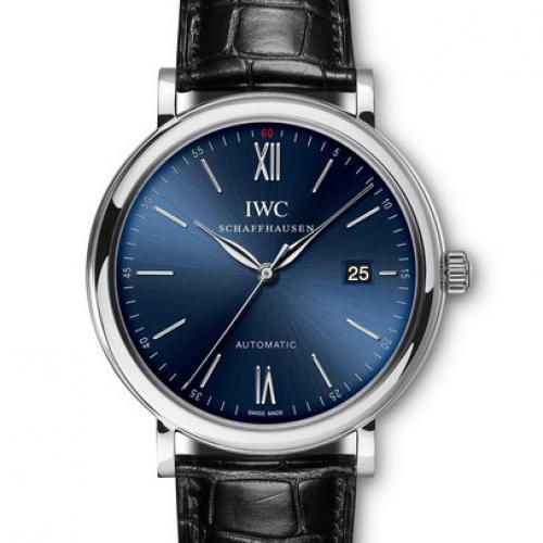 万国IWC 柏涛菲诺系列IW356512 蓝盘 全自动机械男士腕表