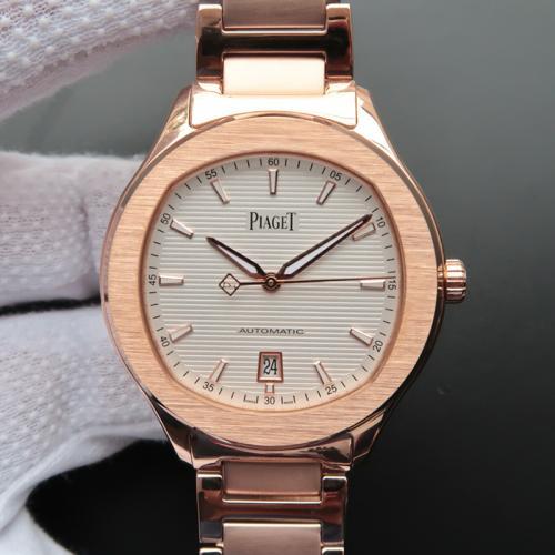 伯爵Piaget POLO S系列腕表G0A41001 18K玫瑰金 白盘 全自动机械男表