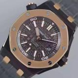 爱彼-Audemars Piguet 皇家橡树离岸型系列 Royal Oak Offshore 15710ST 18K玫瑰金 皮带 男士机械手表