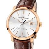 雅典鎏金系列 8156-111/90 18K包玫瑰金 男士自动机械手表