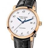 雅典Classico鎏金系列8152-111-2/5GF 阿拉伯刻度 18K包玫瑰金 男士自动机械手表