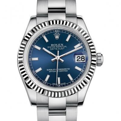 劳力士 女装日志型178274钢牙蓝盘 条丁夜光刻度 女士自动机械表手表
