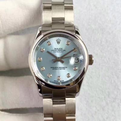 仿劳力士女表 女装日志型178274 蓝盘 钻石刻度 女士自动机械表手表