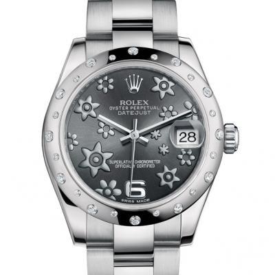 劳力士 女装日志型178344 灰盘 女士自动机械表手表
