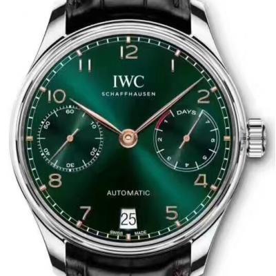 万国IWC葡萄牙系列IW500705 绿面 自动机械男表
