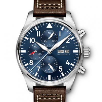 万国IWC-飞行员计时腕表 IW377714 蓝盘 男士自动机械表