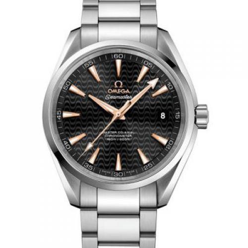 欧米茄海马系列231.10.42.21.01.006 AQUA TERRA 150米 钢带 男士透底自动机械手表