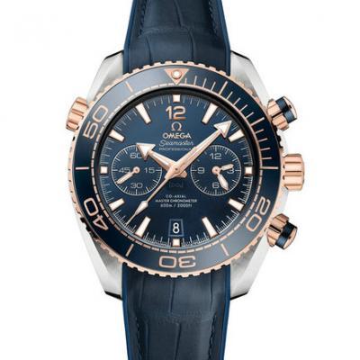 欧米茄海马系列215.23.46.51.03.001 海洋宇宙600米 皮带 男士透底自动机械手表