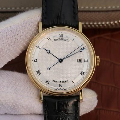 宝玑Breguet CLASSIQUE 经典系列5177 黄金镶钻腕表 男士自动机械表