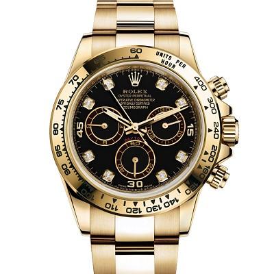 Rolex 劳力士 宇宙计型迪通拿116508 黑盘18K包金 男士自动机械表