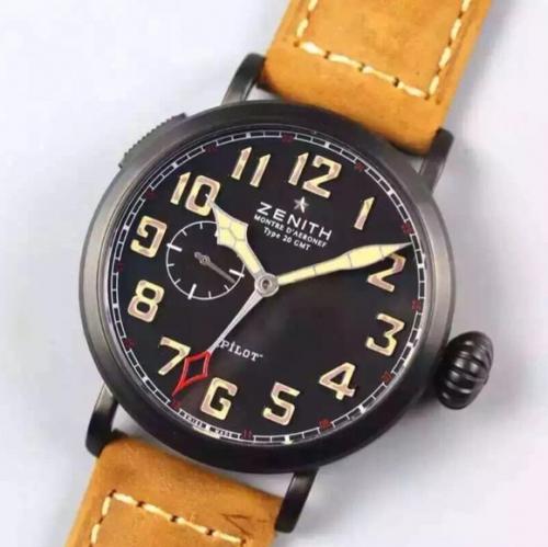 高仿真力时手表价格 XF厂复刻真力时飞行员 大飞洋葱大把头乱真男表