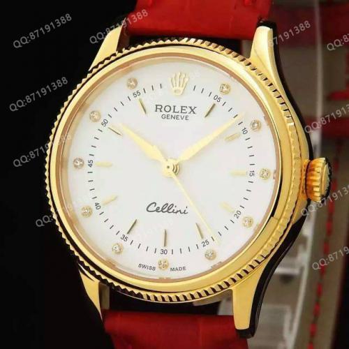 劳力士(ROLEX)女装切尼基系列 18K金白面 女士自动机械表手表  香港组装