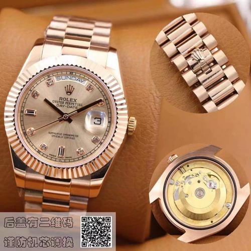 劳力士(ROLEX)经典 18K玫瑰金  男士自动机械表手表 高端男士腕表