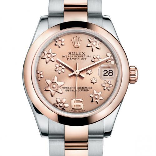 劳力士(ROLEX)女装日志型系列178241-72161 18K玫瑰金 女士自动机械表手表