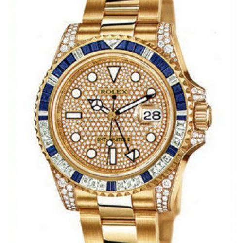 劳力士Rolex格林尼治型II系列116758SA-78208密镶钻 男士全自动机械手表