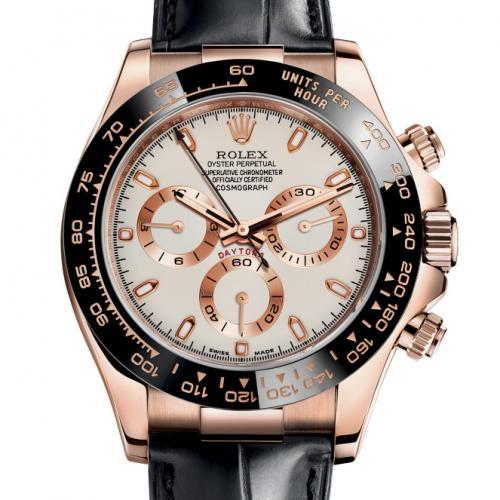 劳力士ROLEX宇宙计型迪通拿系列116515LN-L(FC) 象牙色 18K玫瑰金 男士自动机械手表