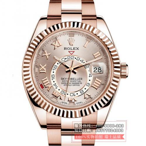 劳力士ROLEX SKY-DWELLER系列326935蚝式表链 18K玫瑰金 男士自动机械手表