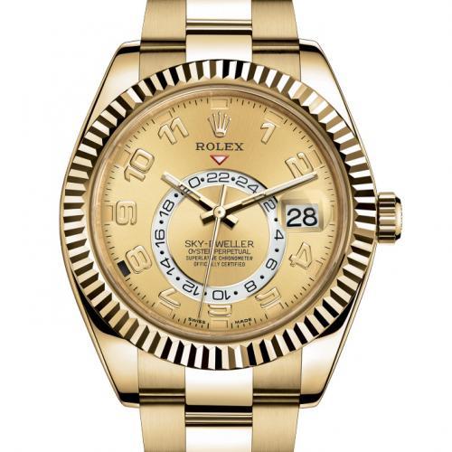 劳力士SKY-DWELLER系列326938-72418 18K金 男士自动机械手表