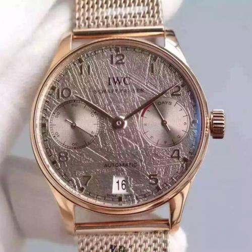高仿iwc手表价格图片 YL万国葡七限量版葡萄牙7日链V5版钢带 男表