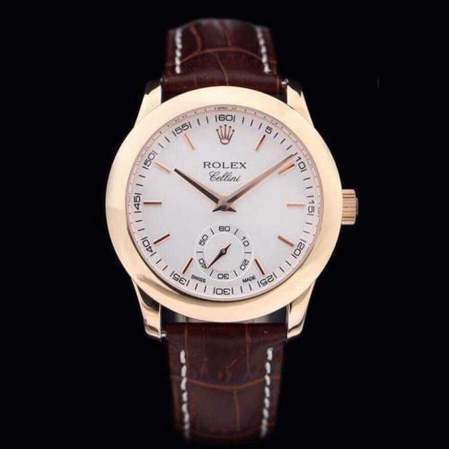 劳力士(ROLEX)切利尼系列(6种款式)18K包玫瑰金 男士自动机械表手表 高端男士腕表