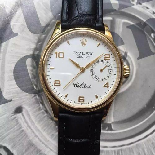 劳力士(ROLEX)切利尼系列(19种款式)18K金 男士自动机械表手表 高端男士腕表