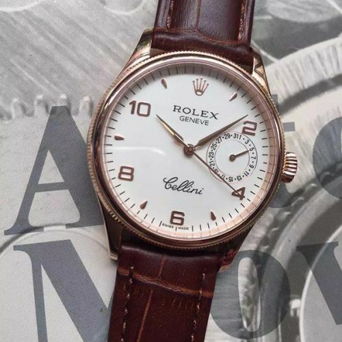 劳力士(ROLEX)切利尼系列(19种款式)18K玫瑰金 男士自动机械表手表 高端男士腕表