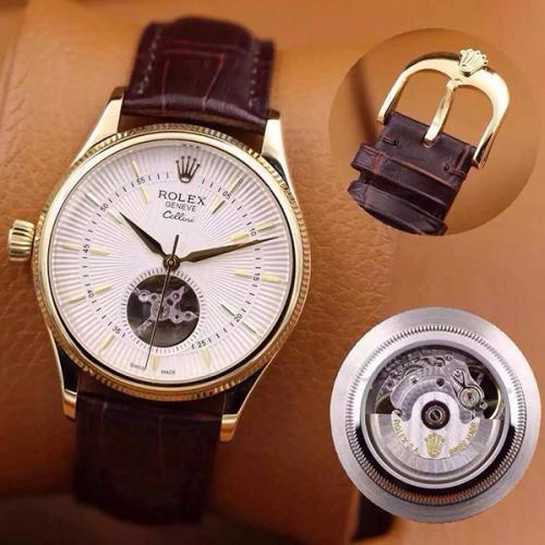 劳力士(ROLEX)切利尼系列(8种款式)18K包金 男士缕空自动机械表手表 高端男士腕表