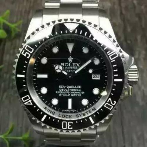 【高端专供】劳力士(ROLEX)海使型系列116660-98210  水鬼王黑盘 男士自动机械表 大表盘腕表