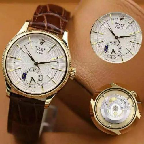 劳力士(ROLEX)切利尼系列五针(8种款式) 18K金  男士自动机械表手表  高端男士腕表