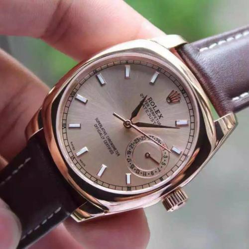劳力士(ROLEX)切利尼系列(8种款式)18K玫瑰金 男士自动机械表手表 高端男士腕表