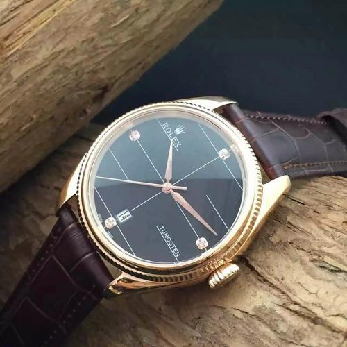 劳力士(ROLEX)切利尼系列 18K玫瑰金 男士自动机械表手表 高端男士腕表