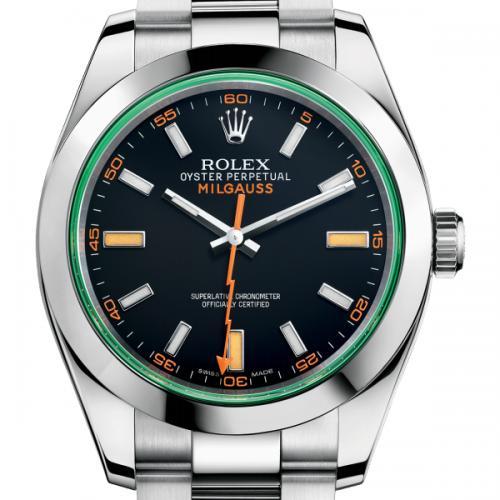 劳力士(ROLEX)MILGAUSS闪电系列116400-GV-72400黑盘 男士自动机械表手表