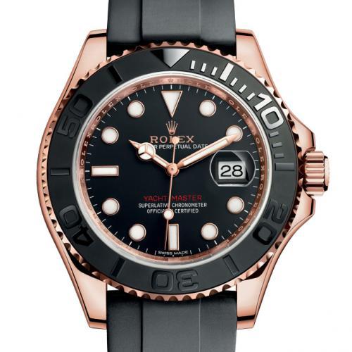 劳力士(ROLEX)游艇名仕型系列116655-Oysterflex bracelet 18K玫瑰金 男士自动机械表 蓝宝石镜面 高端男士腕表