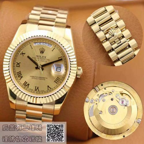劳力士(ROLEX)星期日历型系列218238-83218 香槟色表盘 18K金 男士自动机械表手表
