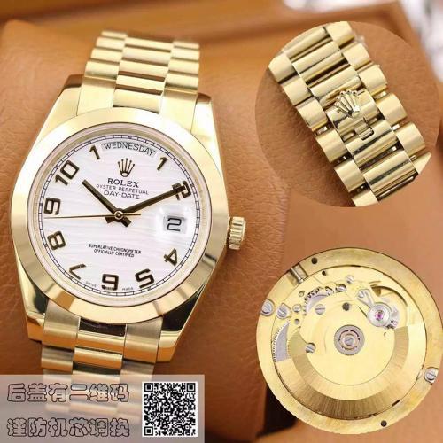 劳力士(ROLEX)星期日历型 218238白盘 18K金  男士自动机械表手表