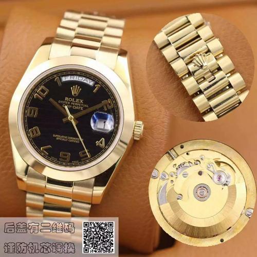 劳力士(ROLEX)星期日历型 218238黑盘  18K金  男士自动机械表手表