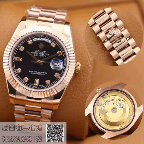 劳力士(ROLEX)星期日历型 218235-83215 A黑盘  18K玫瑰金  男士自动机械表手表