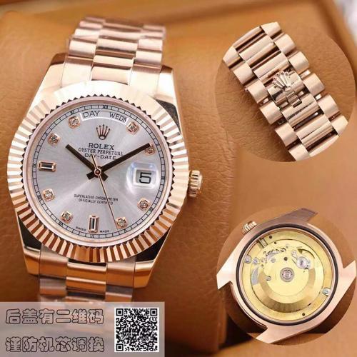 劳力士(ROLEX)星期日历型 218235-83215 A白盘 18K玫瑰金  男士自动机械表手表