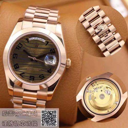 劳力士(ROLEX)星期日历型218235-83215A  18K玫瑰金  男士自动机械表手表