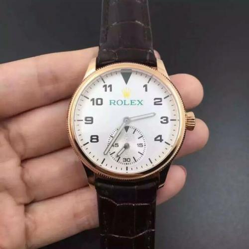 劳力士(ROLEX)切利尼系列 18K玫瑰金 男士自动机械表手表 2824小秒 高端男士腕表