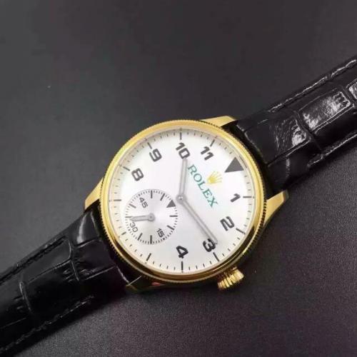 劳力士(ROLEX)切利尼系列 18K金 男士自动机械表手表 2824小秒 高端男士腕表